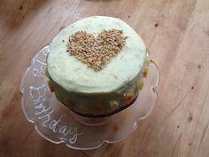 Carrot cake with hazelnuts nada orange cream cheese icing
