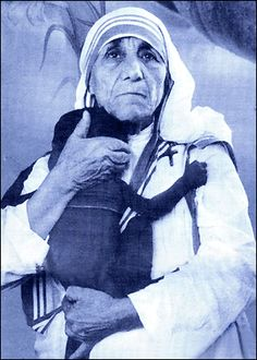 """MOTHER TERESA: """"For me, the silence and the emptiness is so great that I look and do not see, listen and do not hear."""""""