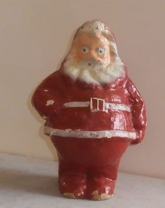 Antique Santa Claus German Paper Mache Candy Container