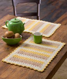 Cornmeal Mats free crochet pattern - 10 Free Crochet Placemat Patterns