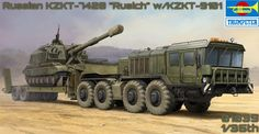 KZKT-7428 Russian Truck and Trailer