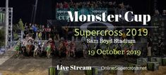 Dear Supercross Fans the world biggest event Monster Cup 2019 of Supercross will begin on 19 October 2019 Sam Boyd Stadium in Las Vegas. Here you can enjoy Supe Monster Cup, Monster Energy Supercross, Ken Roczen, 1 Million Dollars, All Over The World, Las Vegas, Live, Last Vegas
