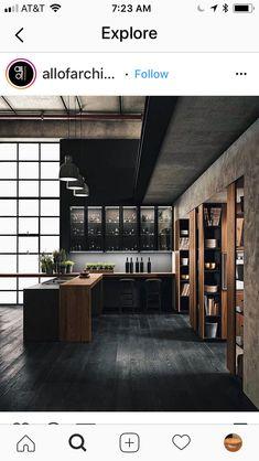 best modern kitchen design and interior ideas 2018 Kitchen Cabinet Design, Modern Kitchen Design, Modern House Design, Interior Design Kitchen, Kitchen Cabinets, Kitchen Sinks, Kitchen Layout, Room Interior, Kitchen Ideas