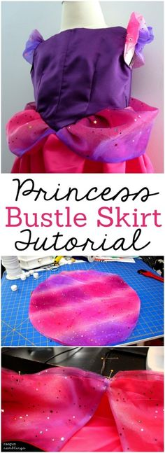 How to add a princess bustle to any dress. This looks super doable and love the look Tutorial at Rae Gun Ramblings sewing Princess Dress Tutorials, Baby Dress Tutorials, Princess Dress Up, Sewing Tutorials, Sewing Projects, Princess Girl, Sewing Ideas, Sewing Patterns, Dress Up Outfits