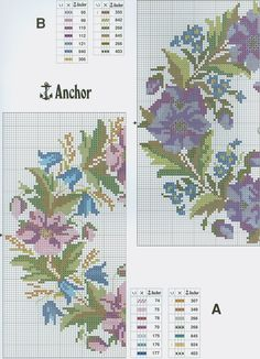 Floral Wreaths (Part 1) free cross stitch pattern from www.coatscrafts.pl