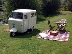 This is possibly the most beautifully executed camper van project I've ever seen. http://www.tuktukcamper.co.uk/