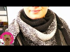 YouTube Hand Knitting, Knitting Patterns, Black And White Scarf, White Scarves, Colorful Scarves, Hand Knit Scarf, Triangle Scarf, Crochet Shawl, Keep Warm