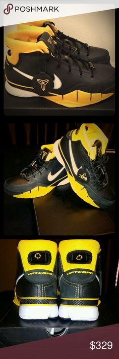 finest selection 79aa6 6e0fa Nike Kobe 1 Pronto Shoes NEW w Box Nike Kobe 1 Protro Varsity Maize Yellow   Black Nike Shoes Sneakers