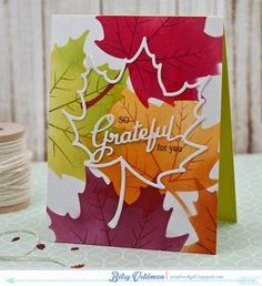 So Grateful For You Card by Betsy Veldman for Papertrey Ink (August 2015)