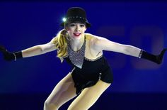 American figure skater Gracie Gold performs during an exhibition gala Saturday at the Iceberg Skating Palace after competition had concluded for the Sochi Olympics. (John MacDougall / AFP / Getty Images / February 22, 2014)