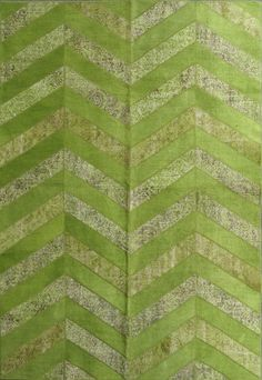 Patchwork chevron rug