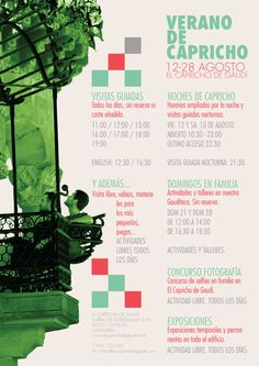 Verano de Capricho – del 08 al 28 de Agosto 2016 Gaudi, Movie Posters, Movies, Month Of August, Things To Do, Summer Time, Films, Film Poster, Cinema