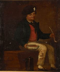 A sailor sitting on a chest, ca.1790