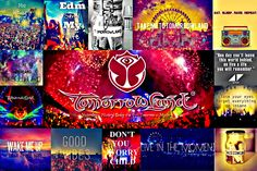 pictures of tomorrowland put into a collage <3