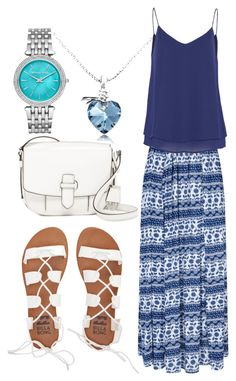 """""""Blue and White"""" by horselover35125 ❤ liked on Polyvore featuring Michael Kors, Glamorous, Zalando, Billabong, MICHAEL Michael Kors and blueandwhite"""