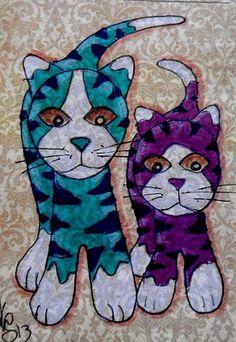"Aceo Original "" TIGER KITTIES "" pencil/ink ON EBAY"