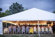 Tented reception at Laumeier Sculpture Park