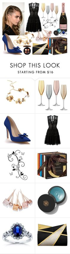"""The Best Cocktail"" by martina4pisova on Polyvore featuring Twigs & Honey, LSA International, Shoes of Prey, Elie Saab, York Wallcoverings, Godiva, Christian Louboutin, Kobelli, Jill Haber and MAC Cosmetics"