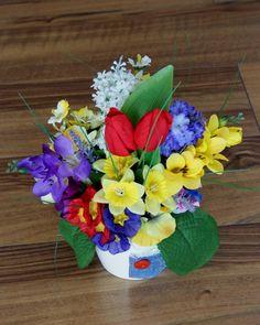 Adiere de primavara #aranjament #flori #artificiale #floriartificiale #primavara #decoratiuni #cadou #unicat #flowerstagram www.beatrixart.ro