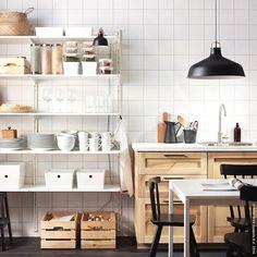 Zeit für was Ordentliches. #Regal #ALGOT #Küche #METOD #meinIKEA