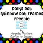 These Polka Dot Labels come in 5 variations of rainbow dots on black, white, and gray. Each color combo has two frames. I call it a single frame and a double frame.