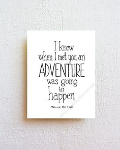 ★ Adventure - quote print  SimpleSerene takes pride in our unique, hand-lettered work. Each lettered design is carefully drawn by hand and then
