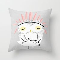 Throw Pillows featuring BE BRAVE by Kelli Murray
