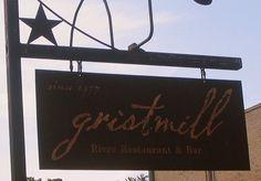 Gristmill - Gruene, Texas. I so wanna go back and eat the very Gruene Chicken Cesear Salad...YUMMO!