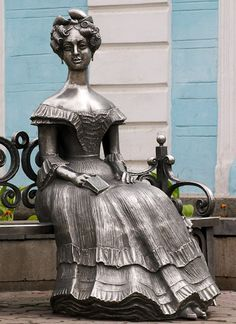 Liuba. Sculpture is devoted to the wife of Western Siberia Governor-General Gustav Christophe von Gasford. Sculptor S.Noryshev, design by I.Vakhitov \\ Russia