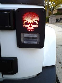"""Skull"" Jeep Wrangler Jk model tail light guards. 2pc set includes free shipping!"