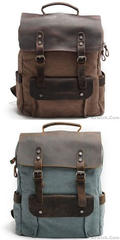 Cheap Retro Large Thick Canvas Travel Bag Splicing Leather Laptop Camping Backpack For Big Sale! Retro Large Thick Canvas Travel Bag Splicing Leather Laptop Camping Backpack for big sale. Lace Backpack, Retro Backpack, Rucksack Backpack, Laptop Backpack, Travel Backpack, Outdoor Backpacks, Boys Backpacks, College Backpacks, Shopping