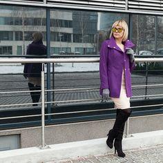 Hello Monday! Hello Violet! #blog #blogger #violet #vito vergelis @promod #promod #fashion #ootd #wiwt