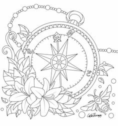 Tattoo Design Coloring Pages Flower Coloring Pages, Mandala Coloring Pages, Coloring Pages To Print, Colouring Pages, Coloring Sheets, Coloring Books, Kids Coloring, Printable Adult Coloring Pages, Embroidery Patterns