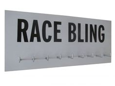Display for medals - RACE BLING - running medal holder at just $25.99 big Love. You can choose from tons of quote and tons of color, style and size! Use a running medal hanger as the perfect gift for runner. Who doesn't like to show off their medals!