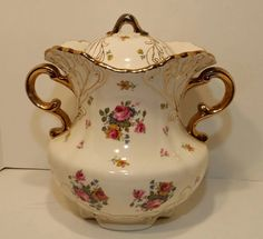 Vintage Victorian Cookie Jar,  by colonialcrafts on Etsy