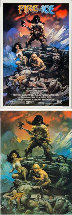 FRANK FRAZETTA - Fire and Ice - 1983 20th Century Fox - print/cover by capnscomics.blogspot.com