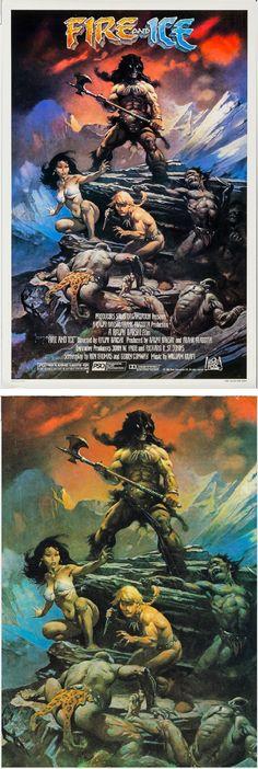 FRANK FRAZETTA - Fire and Ice - 1983 20th Century Fox