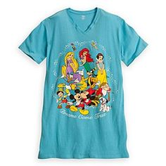 World of Disney Nightshirt for Women   Disney StoreWorld of Disney Nightshirt for Women - A wonderful world of dreams awaits you while wearing this roomy sleep tee featuring Mickey, Minnie, and a colorful cast of Disney favorites!