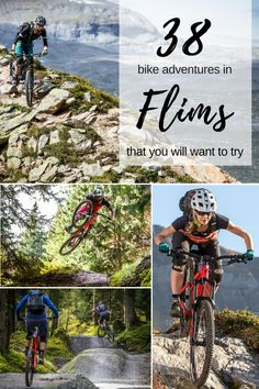 Our favorite bike trails to explore Flims, Switzerland Seen, Bike Trails, Mountain Biking, Switzerland, Smile, Explore, Adventure, Flims, Tours