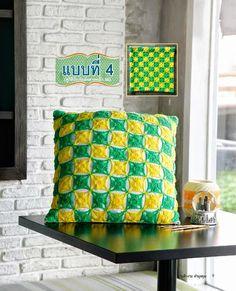 Crochet+y+dos+agujas:+Almohadón+en+dos+colores+-+con+patrones+para+tejer...