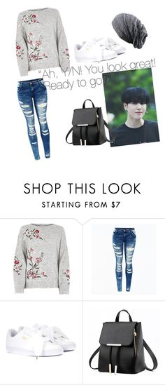 """Imagine: Your First Date with Yugyeom"" by hopeyhope3 ❤ liked on Polyvore featuring Puma"