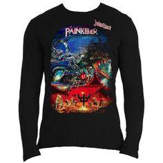 Judas Priest Men's Long Sleeved Tee: Painkiller Wholesale Ref:JPLST01MB