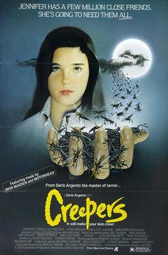 """Phenomena (1985) aka """"Creepers"""" - Stars: Jennifer Connelly, Donald Pleasence, Daria Nicolodi, Patrick Bauchau, Mario Donatone ~ Director: Dario Argento"""