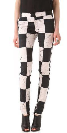 Black & white pants. On sale now! Should I get them?