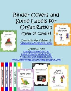 1000+ images about Classroom organizaton on Pinterest | Binder Covers ...