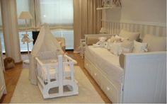 Habitación para bebé en tonos beige y crema