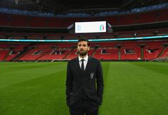 Antonio Candreva of Italy looks on during Italy walk around at Wembley Stadium on March 26, 2018 in London, England.