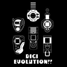 Digivice from all generations of Digimon