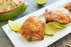 SO easy and SO good!   Sticky Honey Lime Glazed Chicken Recipe