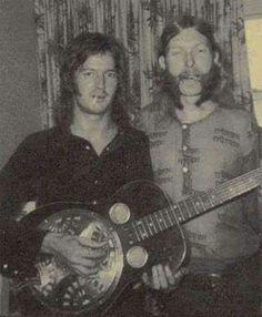 Eric Clapton  &  Duane Alman.  Derek & The Dominoes session